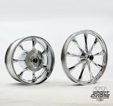 Honda Fury Chrome Plated Motorcycle Wheels Rims Exchange