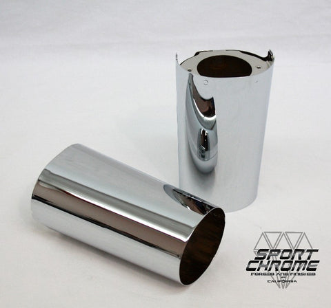 Chrome & Black Harley Upper Fork Cover Cowbells by Sport Chrome