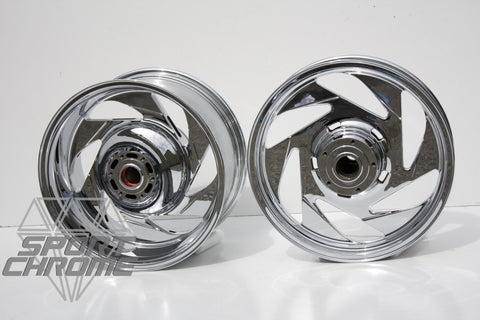 Suzuki M109 Chrome Wheels