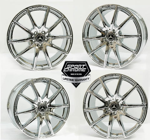 2018 2019 S560 Chrome Wheels AMG 20 Inch Factory Original OEM Mercedes Benz