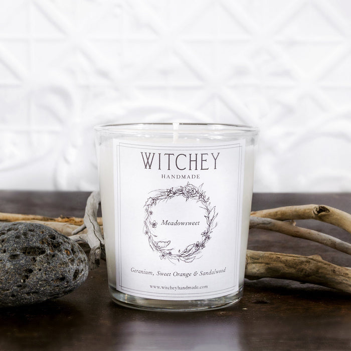 witchey handmade meadowsweet candle