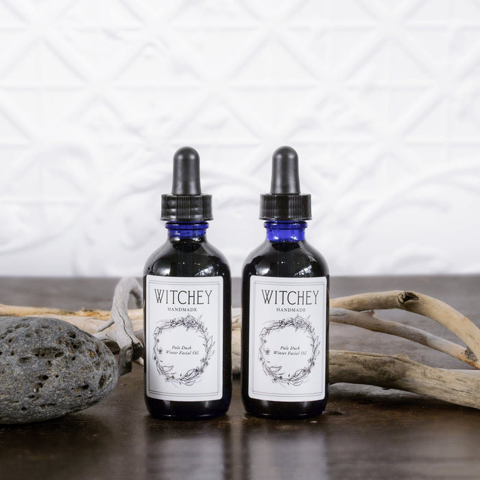 witchey handmade pale dark winter facial oil