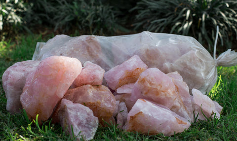 Rose Quartz Bag - Crystal Geological
