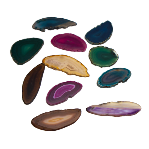 Assorted Agate slice - Crystal Geological