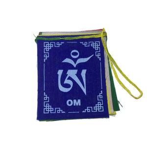 Tibetan Om Ma Ni Padme Hum Flag - Medium