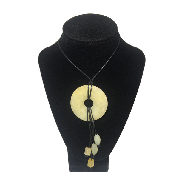 Yellow Adventurine Donut Necklace