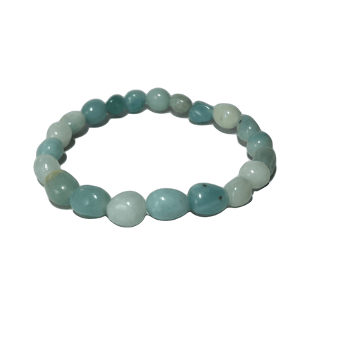 Amazonite Pebble Bracelet - Crystal Geological