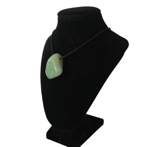 Green Adventurine Tumble Stone Necklace - Crystal Geological