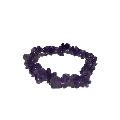 Amethyst Chip Bracelet - Crystal Geological