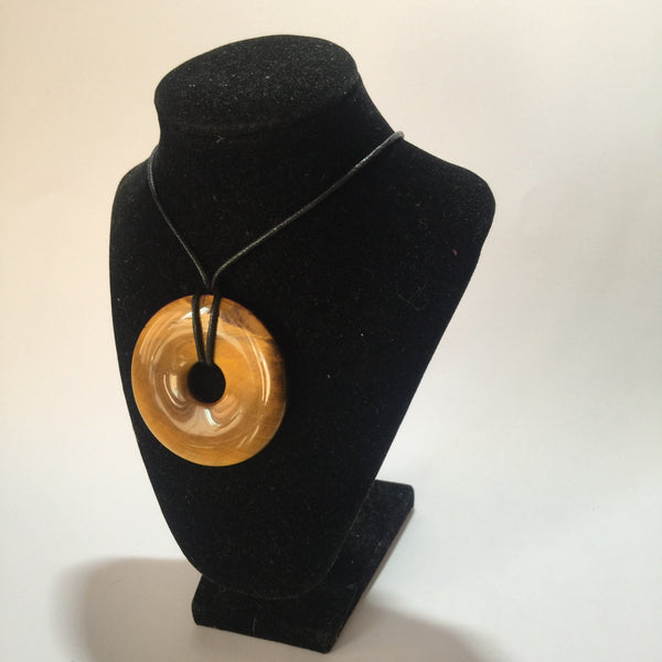 Tigers Eye Donut Pendant