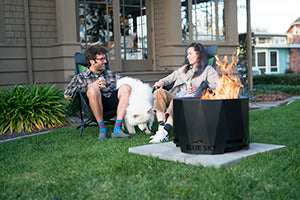 blue sky patio pellet fire pit