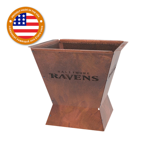 Baltimore Ravens Badlands 29.5 in. Square Fire Pit