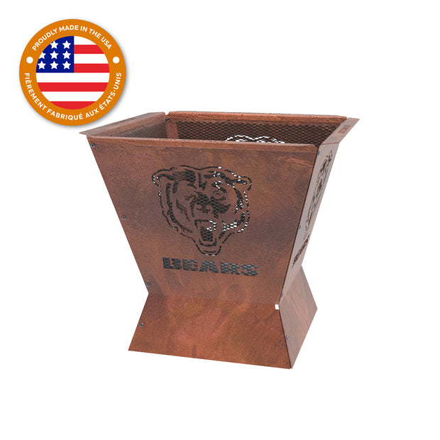 Chicago Bears Badlands 29.5 in. Square Fire Pit