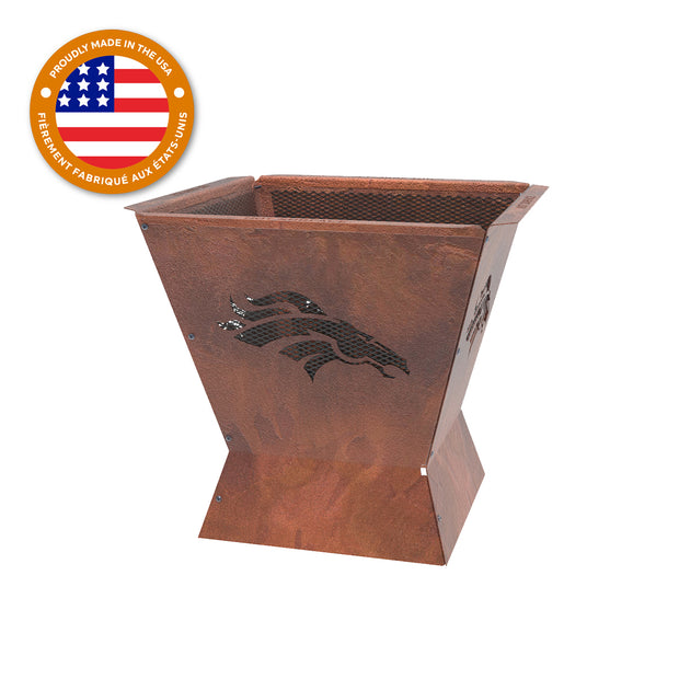 Denver Broncos Badlands 29.5 in. Square Fire Pit