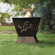 Detroit Lions Badlands 29.5 in. Square Fire Pit