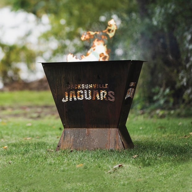 Jacksonville Jaguars Badlands 29.5 in. Square Fire Pit
