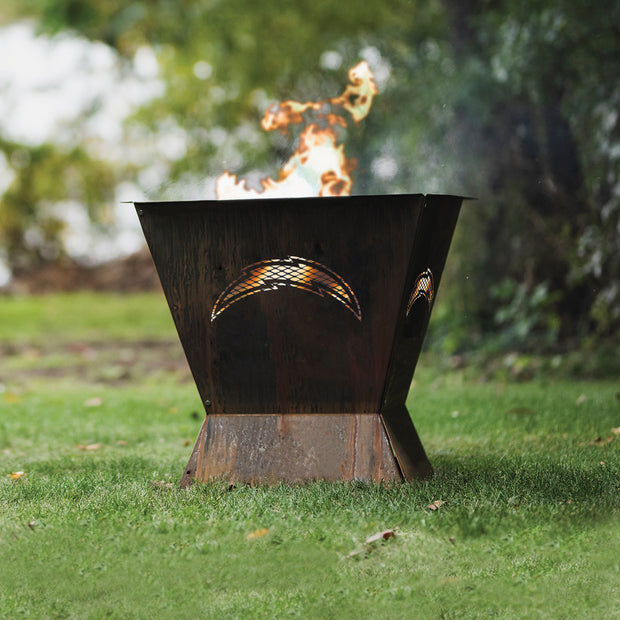Los Angeles Chargers Badlands 29.5 in. Square Fire Pit
