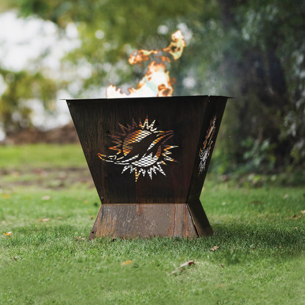 Miami Dolphins Badlands 29.5 in. Square Fire Pit