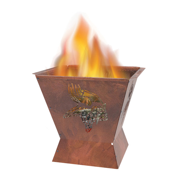 Minnesota Vikings Badlands 29.5 in. Square Fire Pit