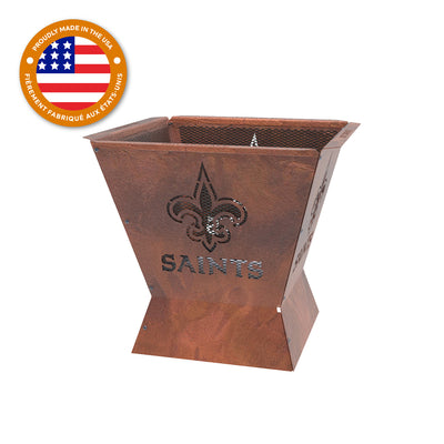 New Orleans Saints Badlands 29.5 in. Square Fire Pit