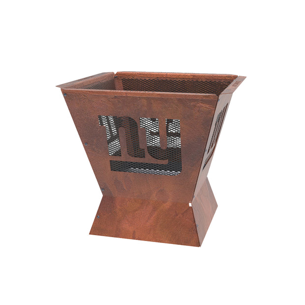 New York Giants Badlands 29.5 in. Square Fire Pit