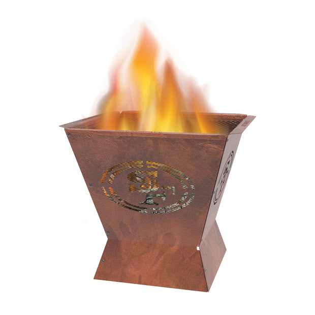 San Francisco 49ers Badlands 29.5 in. Square Fire Pit