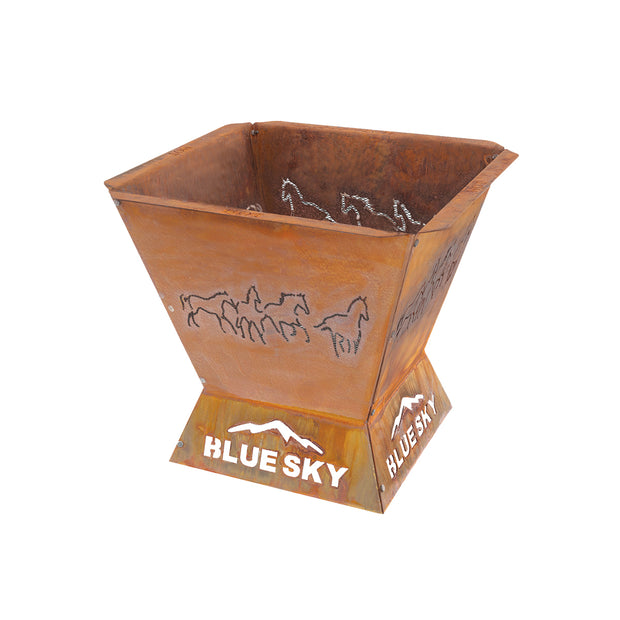 Badlands 29.5 in. Square Fire Pit – Horse