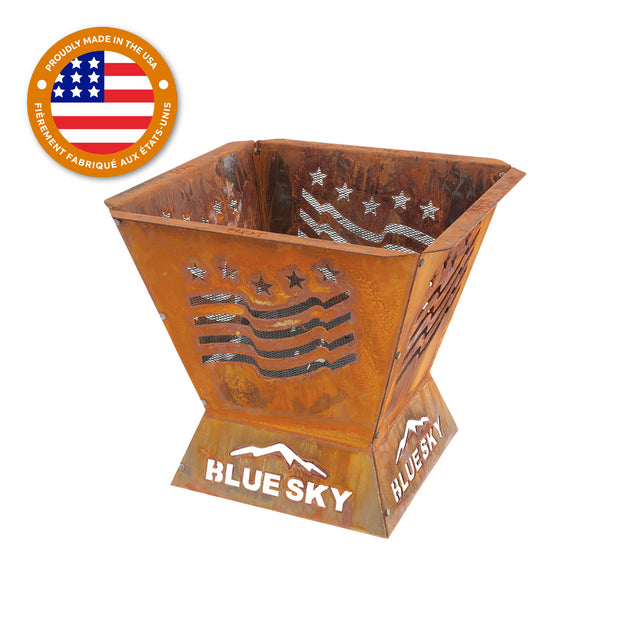 Badlands 29.5 in. Square Fire Pit – Stars and Stripes