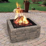 Heavy Gauge 36 in. Square x 10 in. High Fire Ring