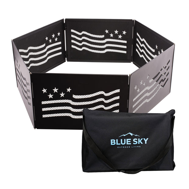 The Zion Portable Folding Fire Ring – Stars and Stripes