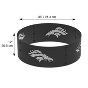 Denver Broncos 36 in. Round x 12 in. High Decorative Steel Fire Ring