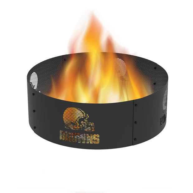 Cleveland Browns 36 in. Round x 12 in. High Decorative Steel Fire Ring