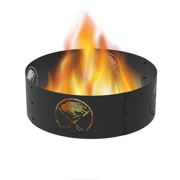 Buffalo Sabres 36 in. Round x 12 in. High Decorative Steel Fire Ring