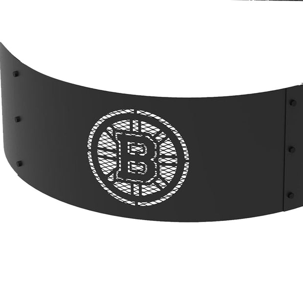 Boston Bruins 36 in. Round x 12 in. High Decorative Steel Fire Ring