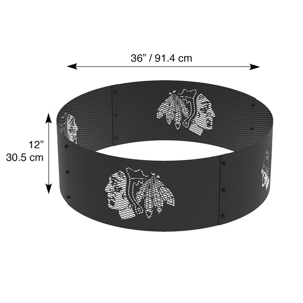Chicago Blackhawks 36 in. Round x 12 in. High Decorative Steel Fire Ring