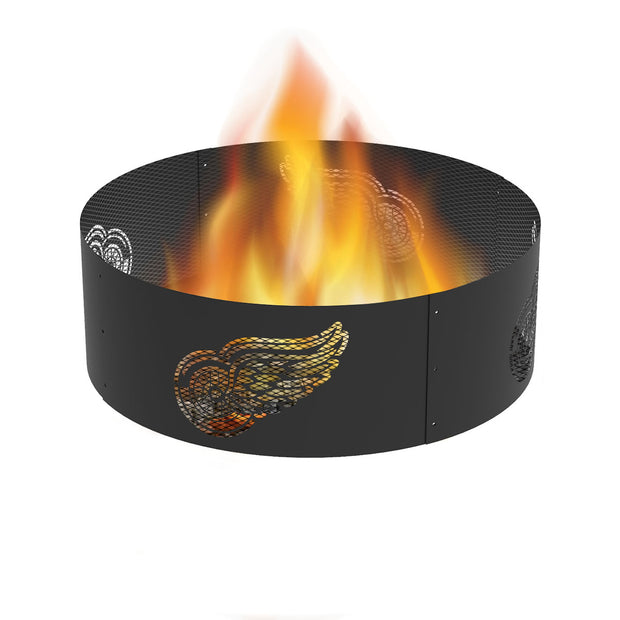 Detroit Red Wings 36 in. Round x 12 in. High Decorative Steel Fire Ring