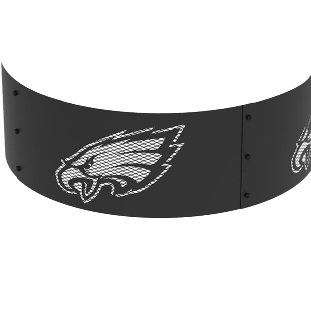 Philadelphia Eagles 36 in. Round x 12 in. High Decorative Steel Fire Ring