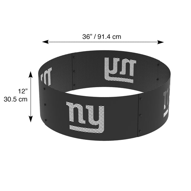 New York Giants 36 in. Round x 12 in. High Decorative Steel Fire Ring