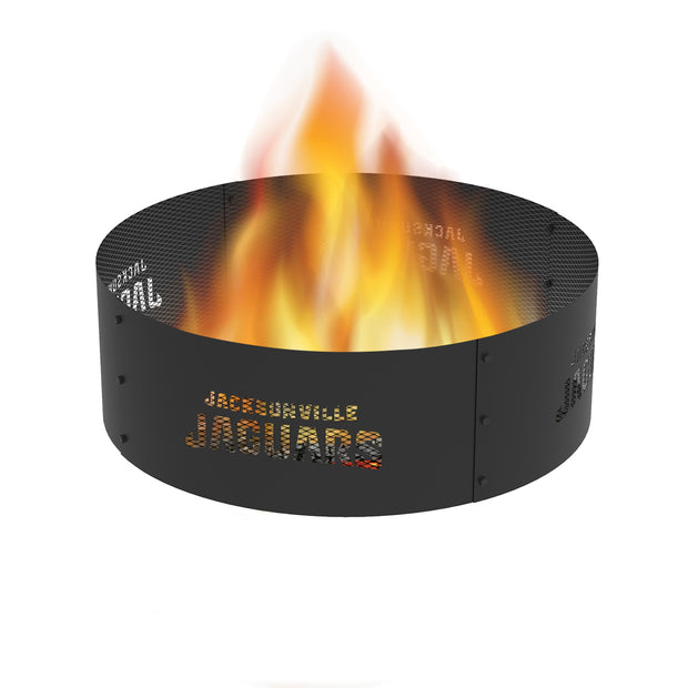 Jacksonville Jaguars 36 in. Round x 12 in. High Decorative Steel Fire Ring