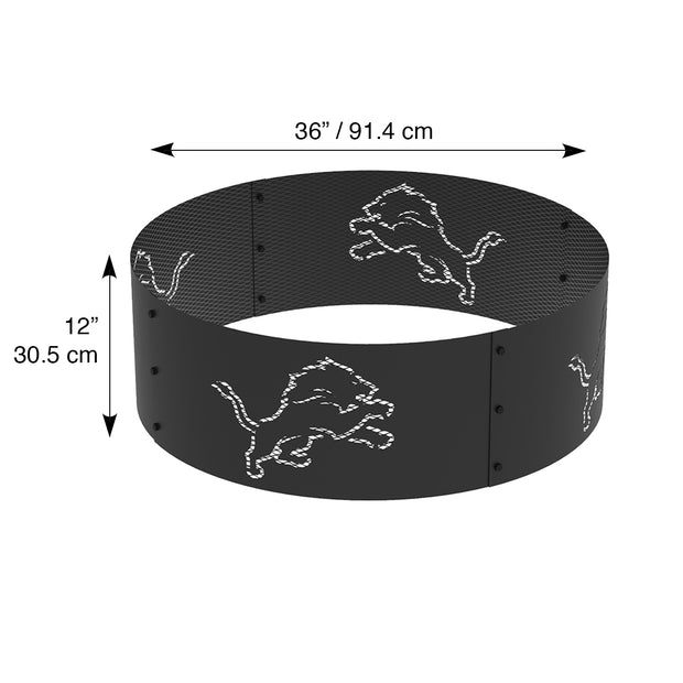 Detroit Lions 36 in. Round x 12 in. High Decorative Steel Fire Ring