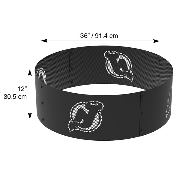New Jersey Devils 36 in. Round x 12 in. High Decorative Steel Fire Ring