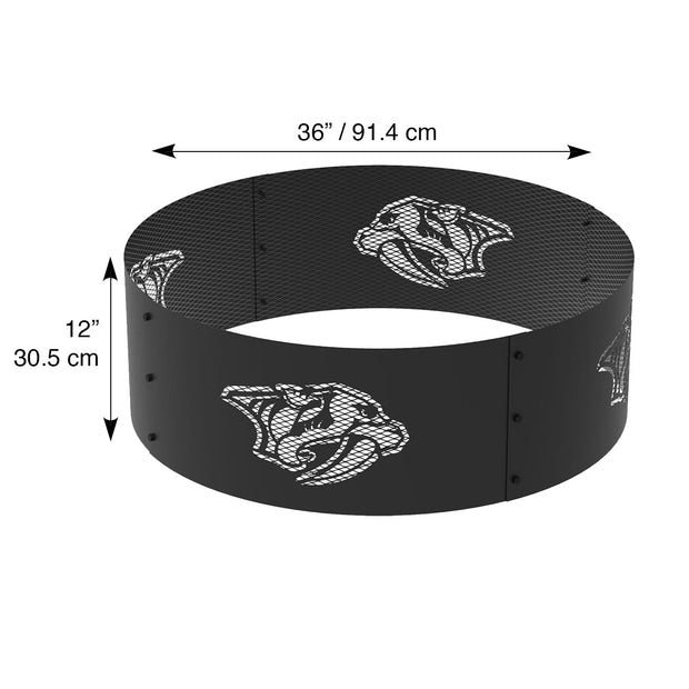 Nashville Predators 36 in. Round x 12 in. High Decorative Steel Fire Ring