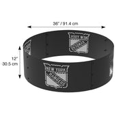 New York Rangers 36 in. Round x 12 in. High Decorative Steel Fire Ring