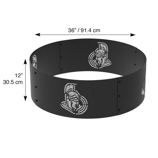 Ottawa Senators 36 in. Round x 12 in. High Decorative Steel Fire Ring