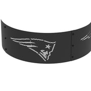 New England Patriots 36 in. Round x 12 in. High Decorative Steel Fire Ring