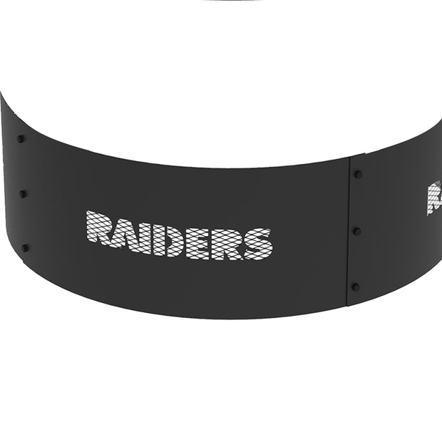 Oakland Raiders 36 in. Round x 12 in. High Decorative Steel Fire Ring