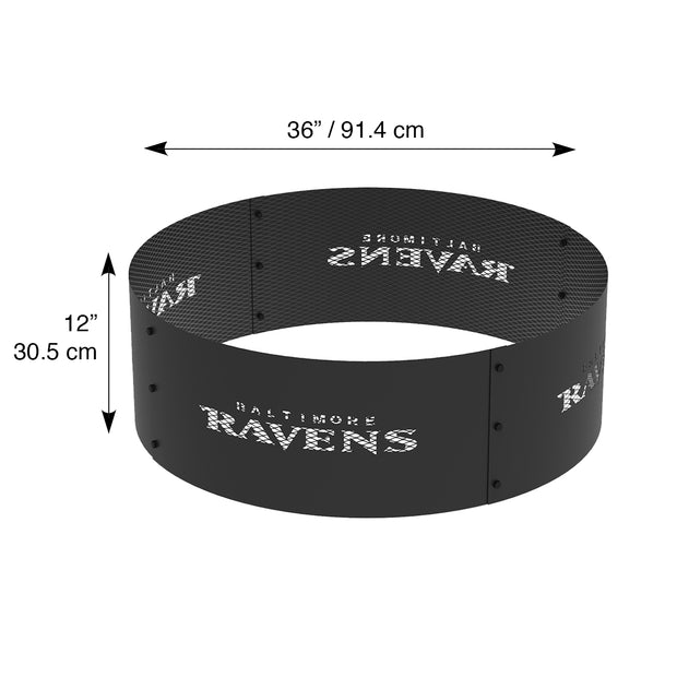 Baltimore Ravens 36 in. Round x 12 in. High Decorative Steel Fire Ring