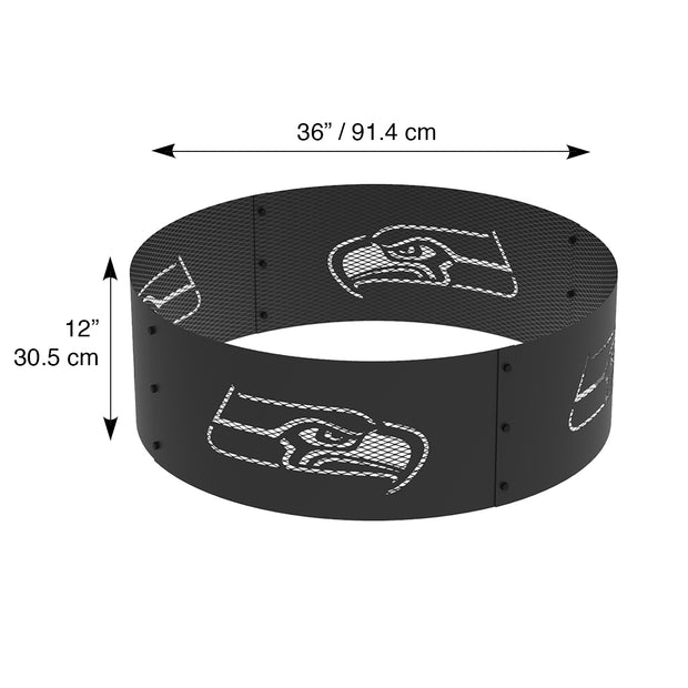 Seattle Seahawks 36 in. Round x 12 in. High Decorative Steel Fire Ring