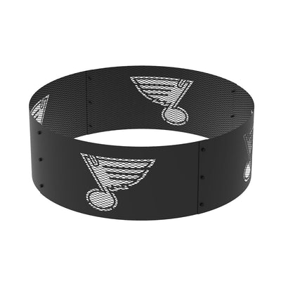 St Louis Blues 36 in. Round x 12 in. High Decorative Steel Fire Ring