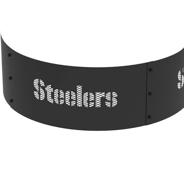 Pittsburgh Steelers 36 in. Round x 12 in. High Decorative Steel Fire Ring